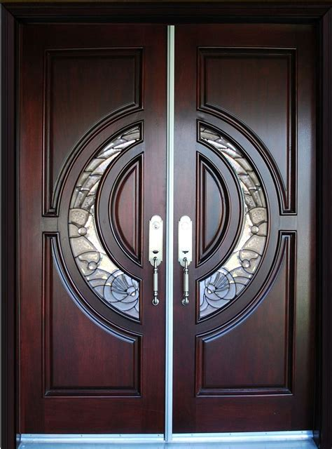 exterior front entry double house wood door  dbl