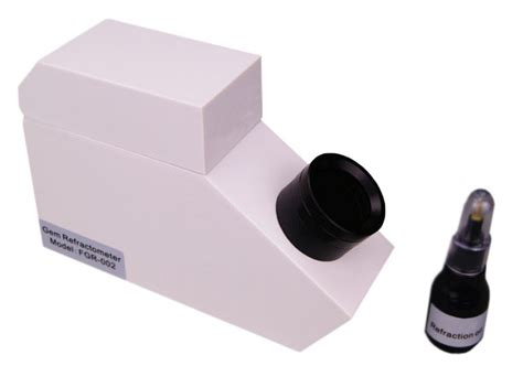 durable cz testing prism gemological refractometer with ri