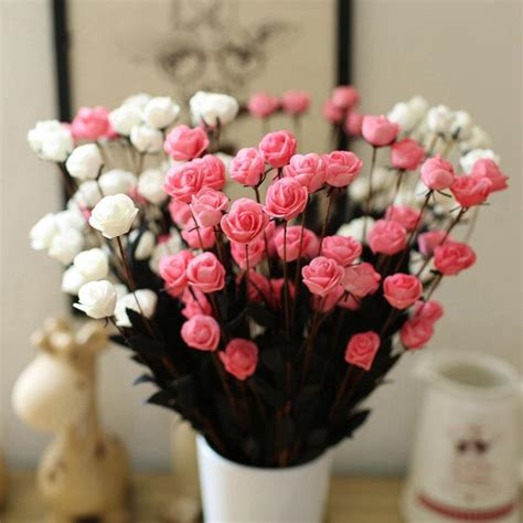 Artificial Flower Decorations For Home by 1 Bouquet 15 Heads Artificial Flower Simulation Rose Fake
