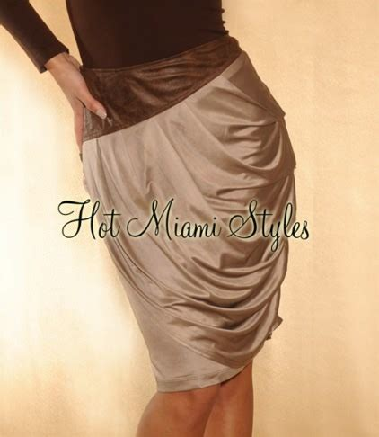 Two Side Draped Skirt mocha sheen draped skirt