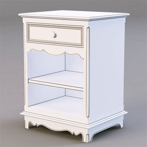 corner nightstand bedroom furniture country corner pbch nightstand 3d model max obj 3ds fbx