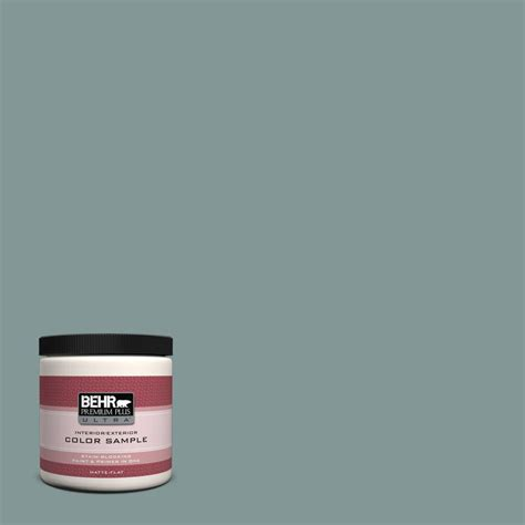 BEHR Premium Plus Ultra 8 oz. #T18 15 In The Moment Matte Interior/Exterior Paint and Primer in