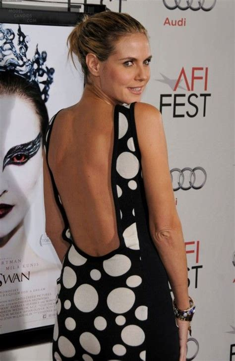 Backless And Beautiful Heidi Klum 17 best images about gorgeous backless on