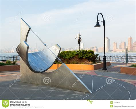new jersey design exchange equatorial sundial at jersey city exchange place editorial