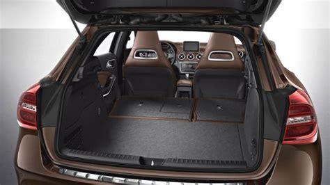 mercedes benz gla  dimensions boot space  interior