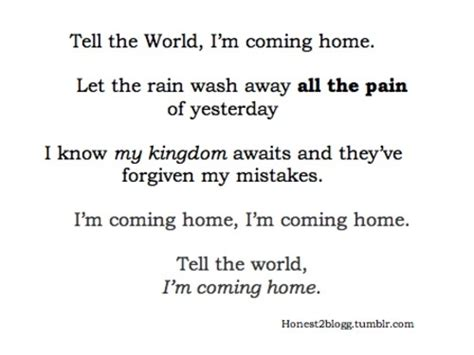 coming home quotes quotesgram