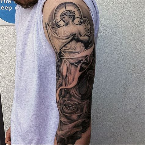best religious tattoos for men 75 religious sleeve tattoos for spirit designs