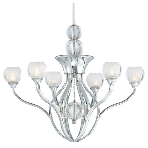 George Kovacs Chandelier George Kovacs 6 Light Chrome Chandelier P132 077 The Home Depot