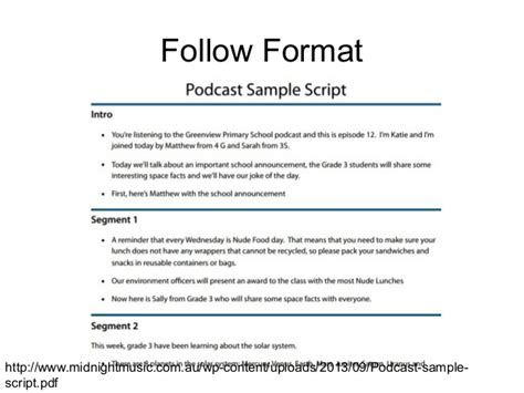 podcast script template podcasting