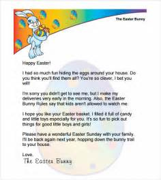 Letter To The Easter Bunny Template by Easter Bunny Letter 7 Free Documents In Pdf Word