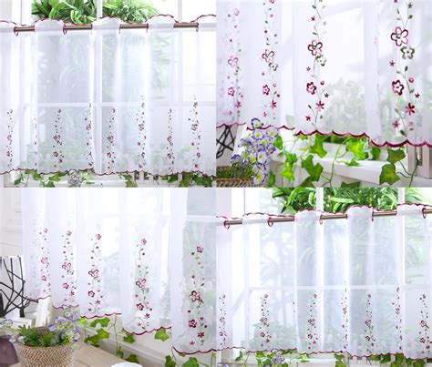 cafe curtain panels kitchen voile cafe net curtain panel 25 new designs 12