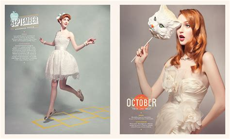 boutique design editorial calendar calendar girl matt chase design illustration