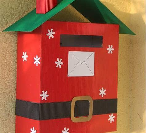 cassetta delle lettere di babbo natale come fare la cassetta postale di babbo natale con i bambini