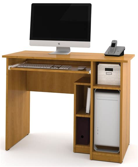 Computer Desk Simple Basic Cappuccino Cherry Computer Desk From Bestar 90400 1168 Coleman Furniture