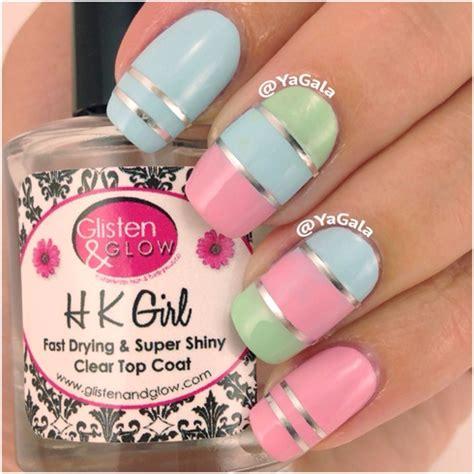 Nail Art Design Yagala | color blocking pastel nails nail art gallery