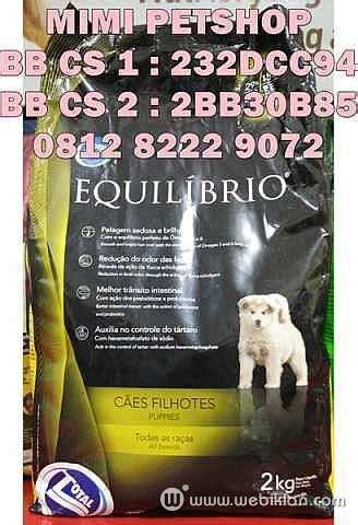 Makanan Anjing Equilibrio Puppy Small Breed 7 5kg jual makanan anjing kucing equilibrio equil murah harga
