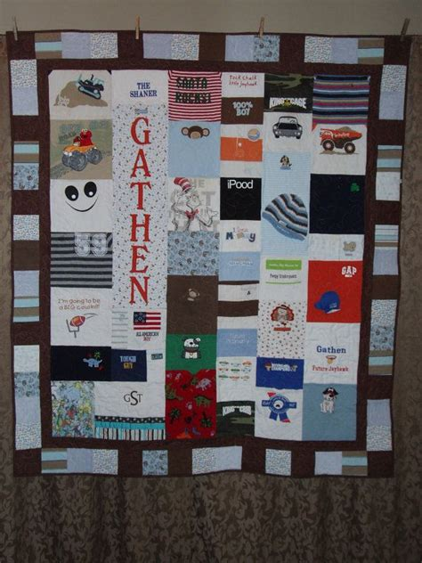Patchwork Quilt Made From Baby Clothes - large throw size patchwork style quilt made from baby