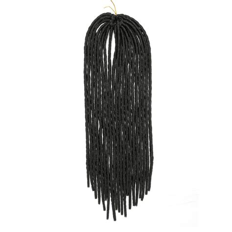 black braiding hair ebay 18 quot synthetic black faux locs braids dreadlocks crochet