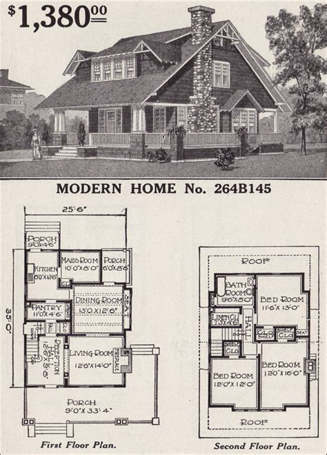 modern craftsman ranch houselans sears home bungalow house plans one modern home no 264b145 1916 sears roebuck modern sears