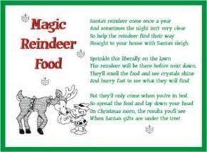 Printable magic reindeer food poem