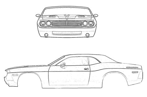 how to draw a dodge challenger drawingforall net how to draw dodge challenger