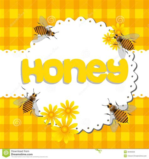 4 Letter Words Honey honey stock vector image 39493556