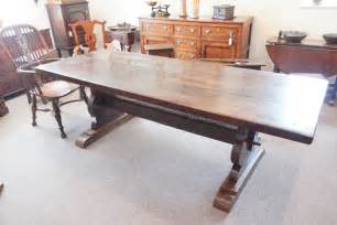 Refectory Dining Tables Antique Chestnut Refectory Dining Table Hingstons Antiques Dealers