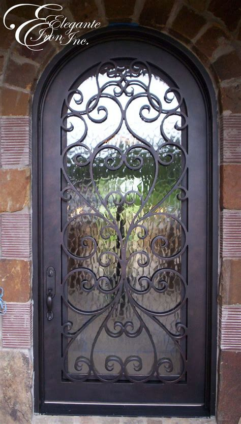Front Door Wrought Iron Custom Wrought Iron Front Door Single Doors