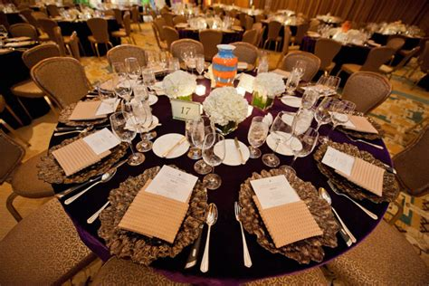 select event rentals draped dinner tables in