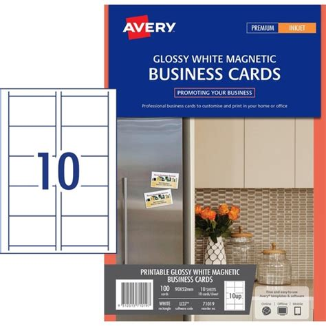 staples inkjet business cards template 36 50 avery australia 71019 ij37 magnetic gloss finish