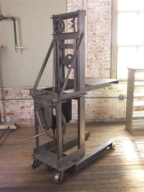 vintage industrial steel manual die lift table at 1stdibs