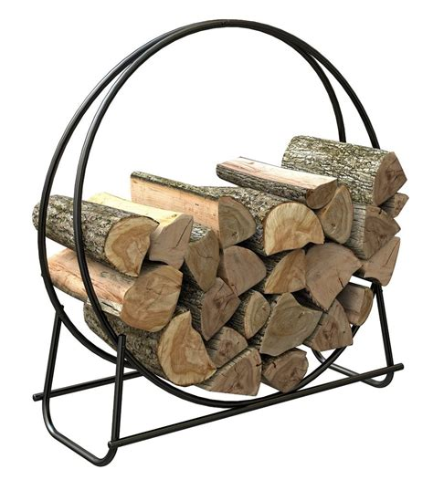 firewood holder firewood log holder steel hoop 40 quot storage fireplace wood