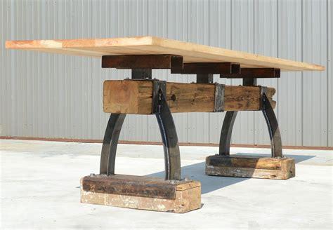 industrial bar height table custom industrial farmhouse post beam bar height table