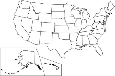 Map Of United States For Kids To Color United States Map Coloring Page