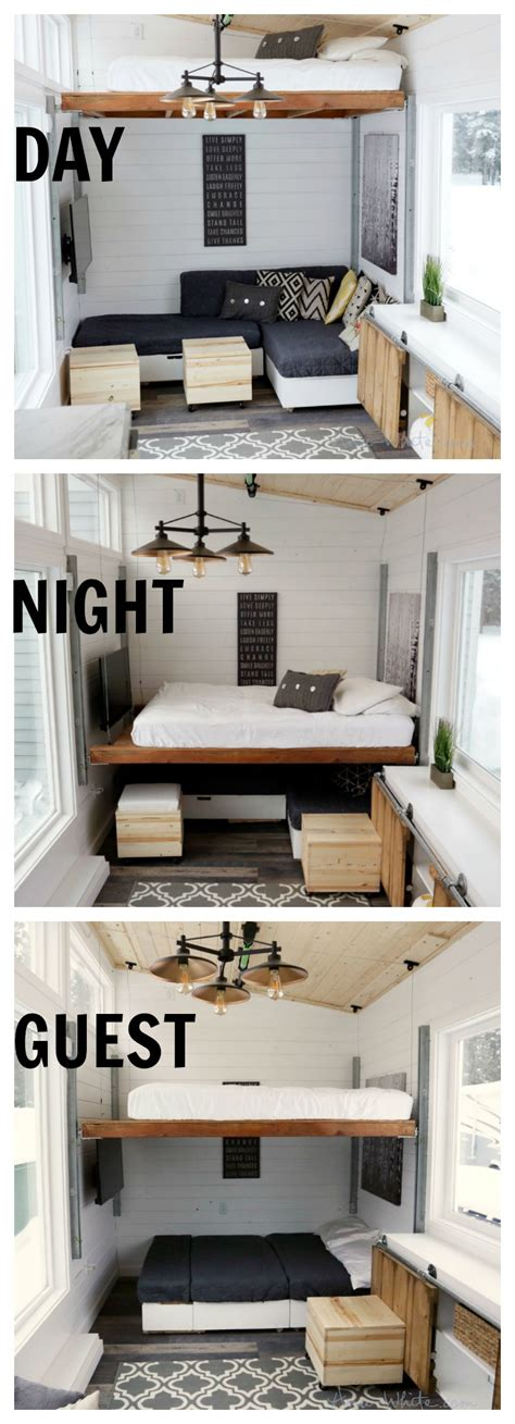tiny house furniture ideas open concept rustic modern tiny house photo tour and