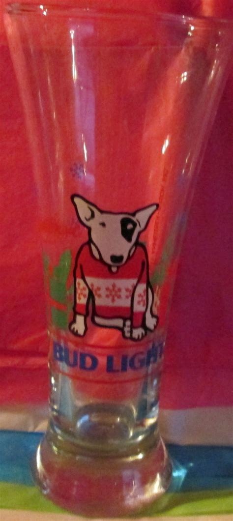 what type of was spuds mackenzie spuds mackenzie bud light glass 1987 glasses cups mugs