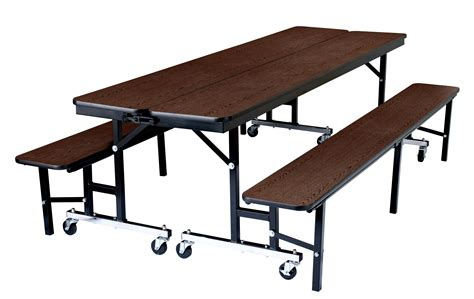convertible bench table cafeteria lunch room 8ft convertible bench units table