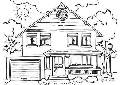 A House Coloring Page by School House Coloring Page 16161 Bestofcoloring