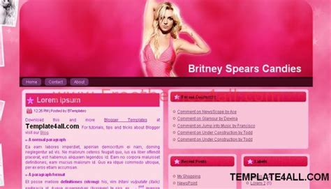 blogger templates for celebrities music celebrities pink blogger template freethemes4all
