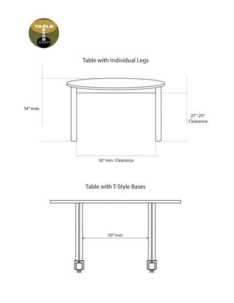 ada compliant table bases accessible dining banquet and bar tables and bases