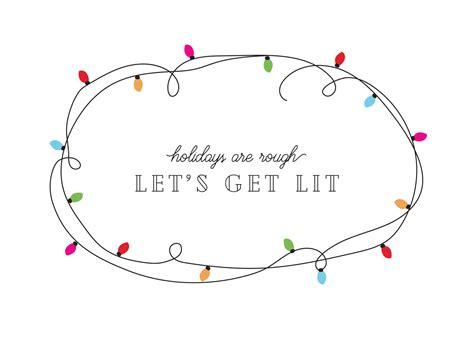 lets  lit christmas card   island