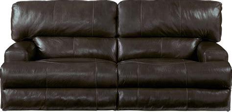 Catnapper Wembley Top Grain Italian Leather Leather Power Catnapper Leather Reclining Sofa