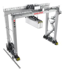 storage for rubber sts automated rtg artg system konecranes usa
