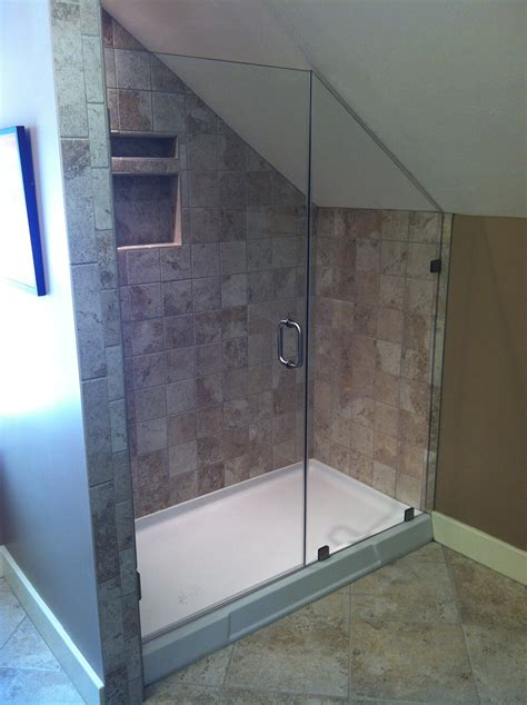 Sloped Ceiling Shower by Shower Enclosure With Sloped Ceiling Pioneer Glass