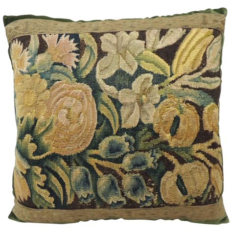 Antique Tapestry Pillows by Antique Flemish Verdure Tapestry Pillow At 1stdibs