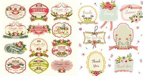 craft label templates free vintage label template downloads set of 19 vector vintage labels and frames