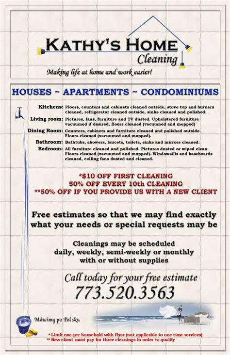 residential cleaning flyers free kathy s home cleaning flyer flyer template free