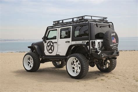 white jeep black rims lifted jeep wrangler black white jk custom lifted white