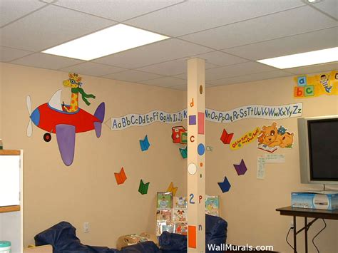 alphabet wall mural preschool wall murals daycare murals playroom mural exles