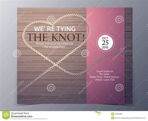 Tie The Knot Concept Wedding Invitation Card Vector Template Stock Vector Illustration 48254680 Tying The Knot Wedding Invitation Templates
